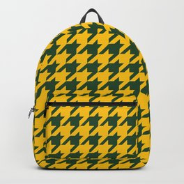 Houndstooth Checkered: Green & Yellow Backpack