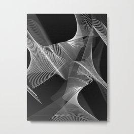 Echoes VIII - Black and White Metal Print