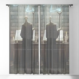 The secrets of darkest magic Sheer Curtain