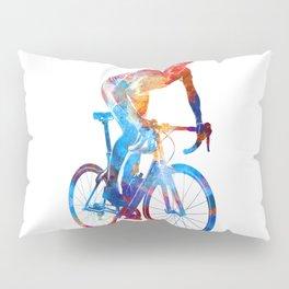 Woman triathlon cycling 06 Pillow Sham