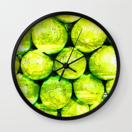Bright Green Lime Pattern - For Fruit Lovers Wall Clock