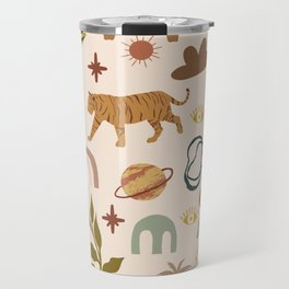 In the cave of the tiger #shapeart #digitalart Travel Mug