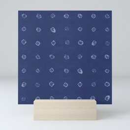 Shibori dots Mini Art Print