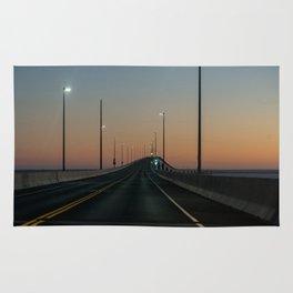 Bridge after sundown Rug