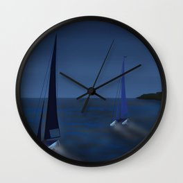 May on a Fast Lane - shoes stories Wall Clock