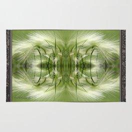 Hordeum Jubatum Abstract Rug