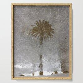 Rainy Day Palm Tree Serving Tray
