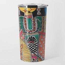 Madhubani - Blue Durga Travel Mug