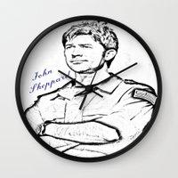 stargate Wall Clocks featuring John Sheppard by Samy