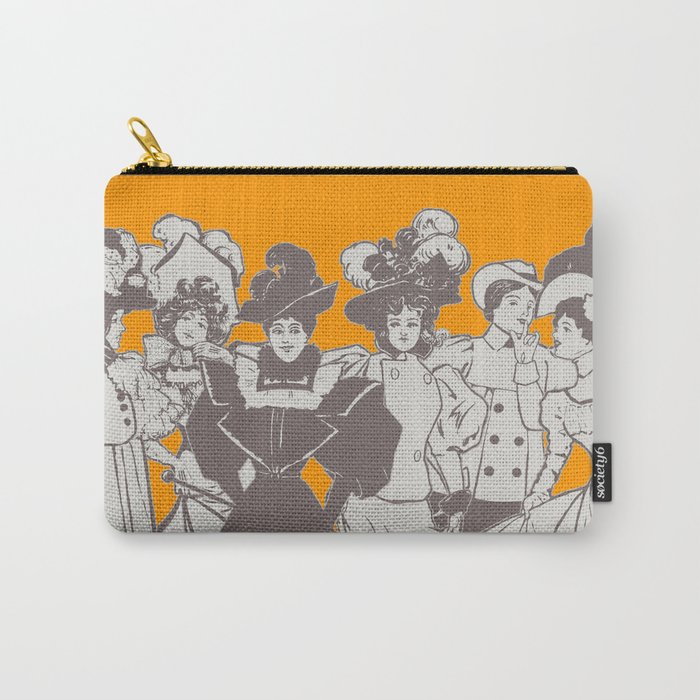 Vintage Ladies APRICOT / Vintage illustration redrawn and repurposed Carry-All Pouch