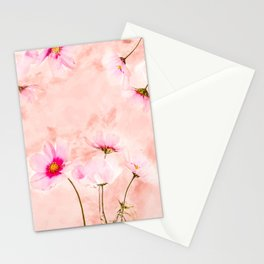 Pink Spring Flower #floral #watercolor Stationery Cards