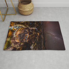 Nightscape in Rome Rug
