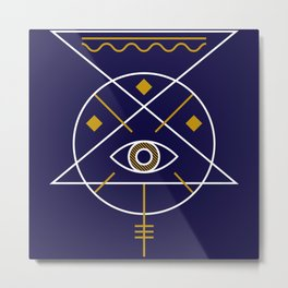 Sacred Geometry All Knowing Eye Cool Abstract Design Metal Print