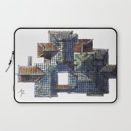 Taiwanese roofscapes 01(colored) Laptop Sleeve