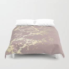 Kintsugi Ceramic Gold on Clay Pink Duvet Cover