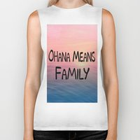 ohana Biker Tanks featuring Ohana by Amy Copp