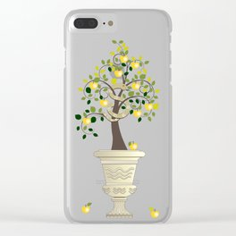 Guarding Golden Apples Clear iPhone Case