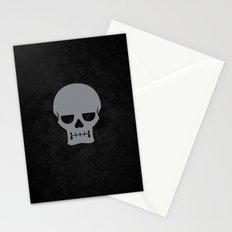 Gray Skull Stationery Cards