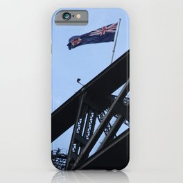 Sydney Harbour Bridge and Flag. Australia. iPhone Case