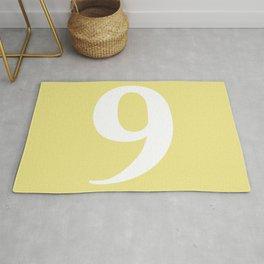 9 (WHITE & KHAKI NUMBERS) Rug