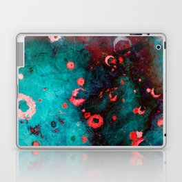 Red Turquoise Textured Abstract Laptop & iPad Skin