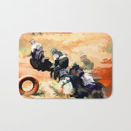 Leading the Pack  - Motocross Racers Bath Mat