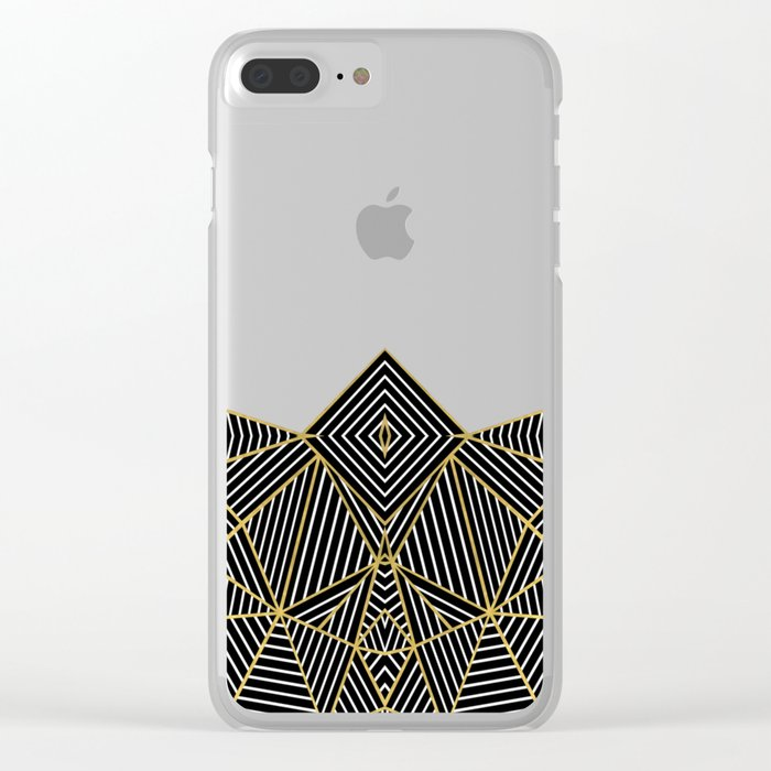Ab Half Gold Clear iPhone Case