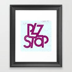 Plz Stop Framed Art Print
