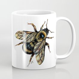Realistic Bumble Bee Drawing Coffee Mug