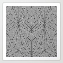 Art Deco in Black & Grey - Large Scale Art Print