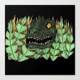 Don't go into the long grass! Canvas Print