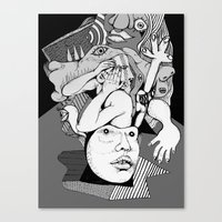depression Canvas Prints featuring Depression by Benson Koo