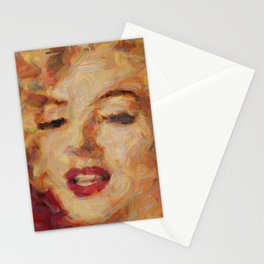 Marylin Monroe's closeup Stationery Cards