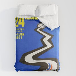1972 Le Mans poster, car poster, race poster, t-shirt Duvet Cover