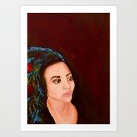 headdress Art Prints featuring headdress by Rory Eastman