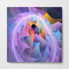 Cyclone of feelings, colourful fractal abstract Metal Print