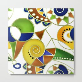 Abstraction . Colorful pattern in yellow green tones . Metal Print