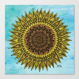Zentangle - Sunflower Sunshine  Canvas Print