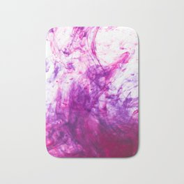 Blue and Pink ink Bath Mat