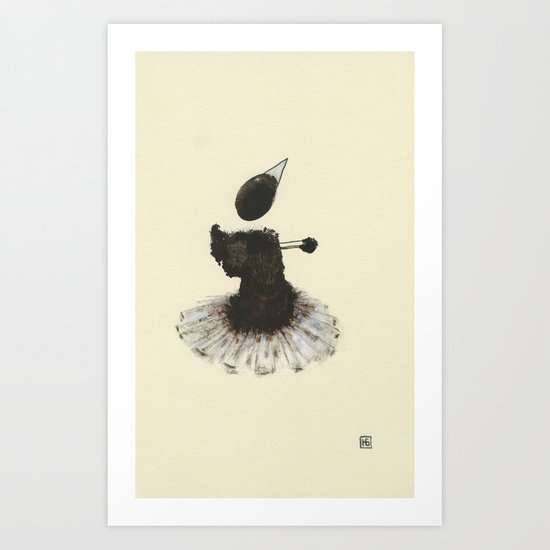 Dancer with Heart Art Print