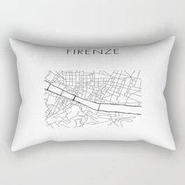 Firenze - City Map - Daniele Drigo Rectangular Pillow