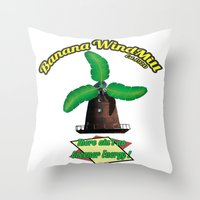warcraft Throw Pillows featuring Banana Energy Co. by SmallWheel