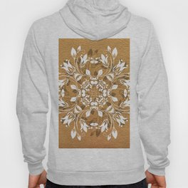 ELEGANT GOLD AND WHITE FLORAL MANDALA Hoody