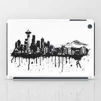 seattle iPad Cases featuring Seattle. by Dioptri Art