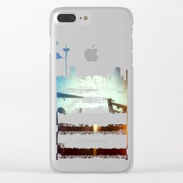 Sea-Tac At Sunset Clear iPhone Case