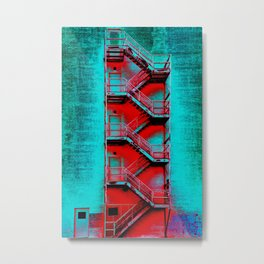 Paint the Town Red Metal Print