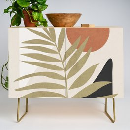 Tropical Leaf- Abstract Art 9 Credenza