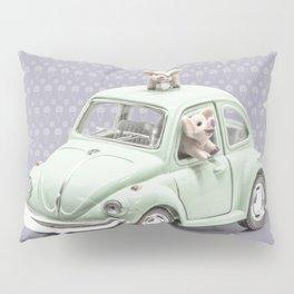 Road Pig on Violet Pillow Sham