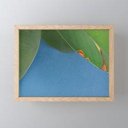Eroded leaf Framed Mini Art Print