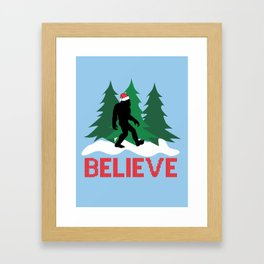 Cryptid Christmas Miracle Framed Art Print